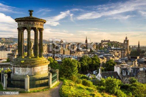 istock Beautiful view of the city, Edinburgh 178606646