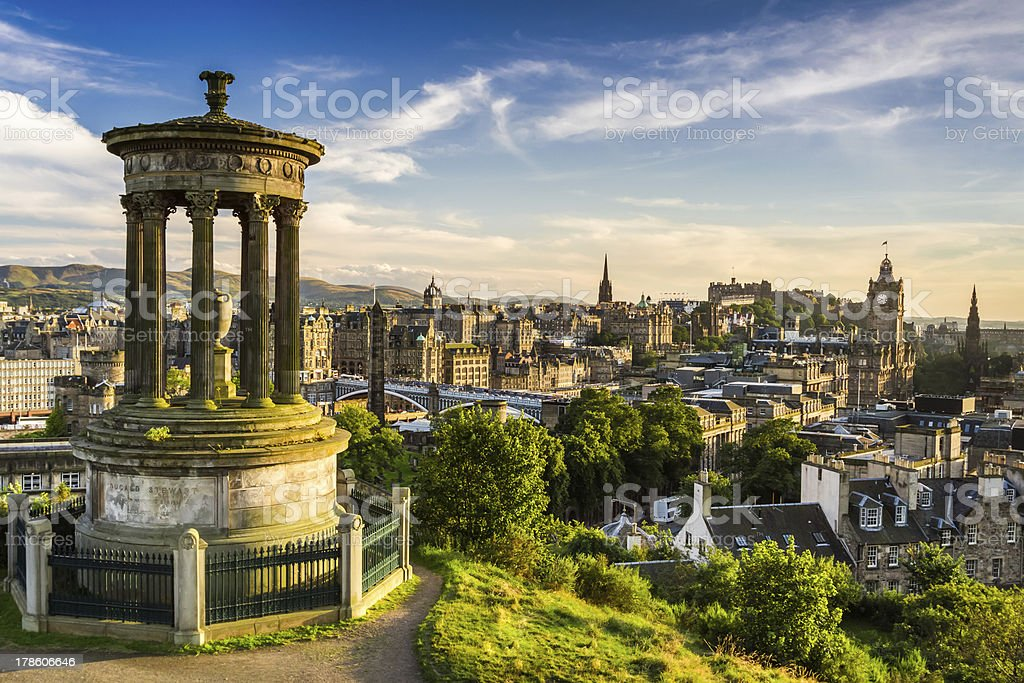 Beautiful view of the city, Edinburgh stock photo