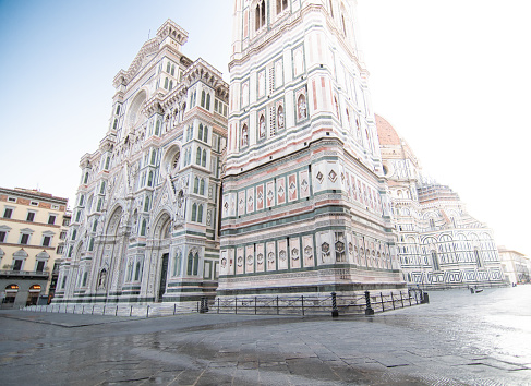 beautiful view of the florence cathedral in the morning