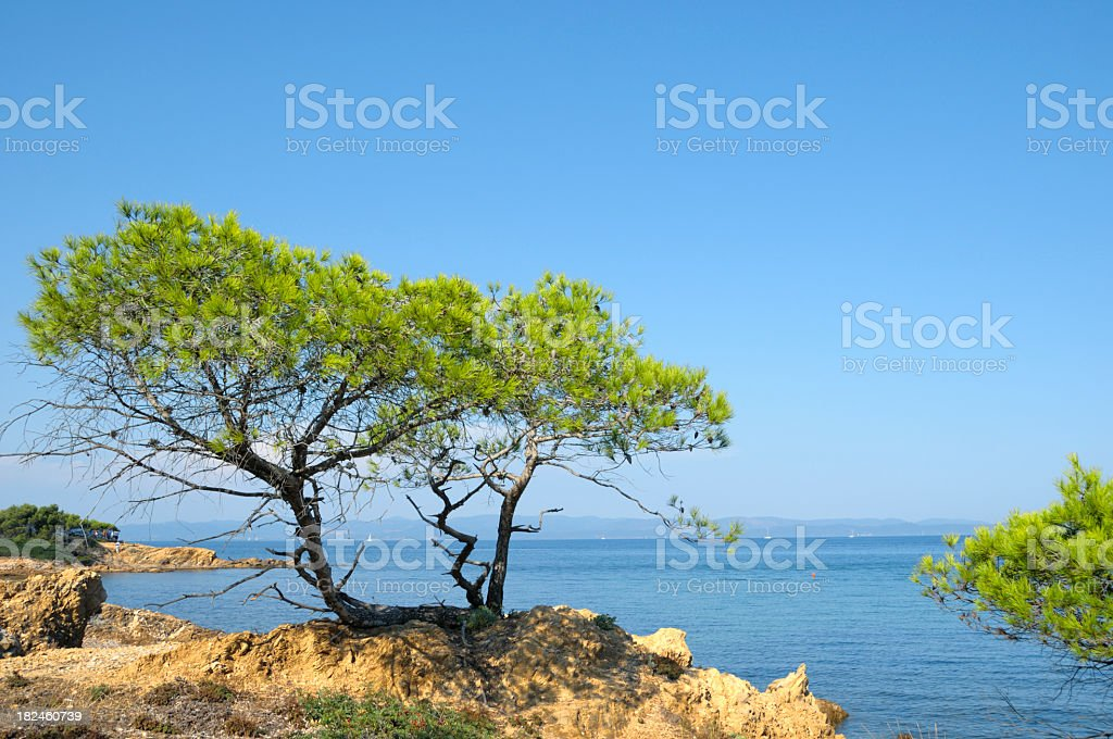 Beautiful view of the French Rivera coastline royalty-free stock photo