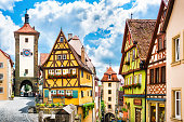 istock Beautiful view of the historic town of Rothenburg ob der Tauber, Franconia, Bavaria, Germany 683956214
