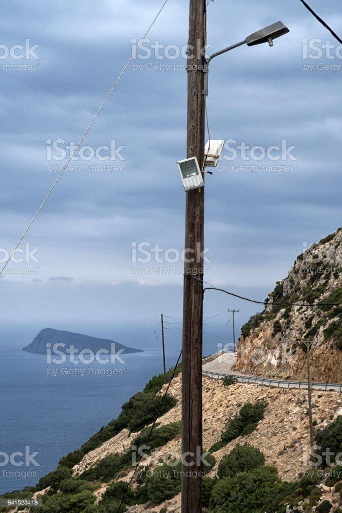beautiful view of the island of Crete. stock photo