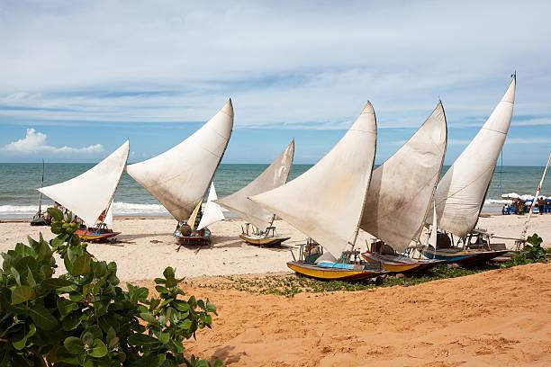 Beautiful view of the Jangada Tropical Beach in Brazil stock photo