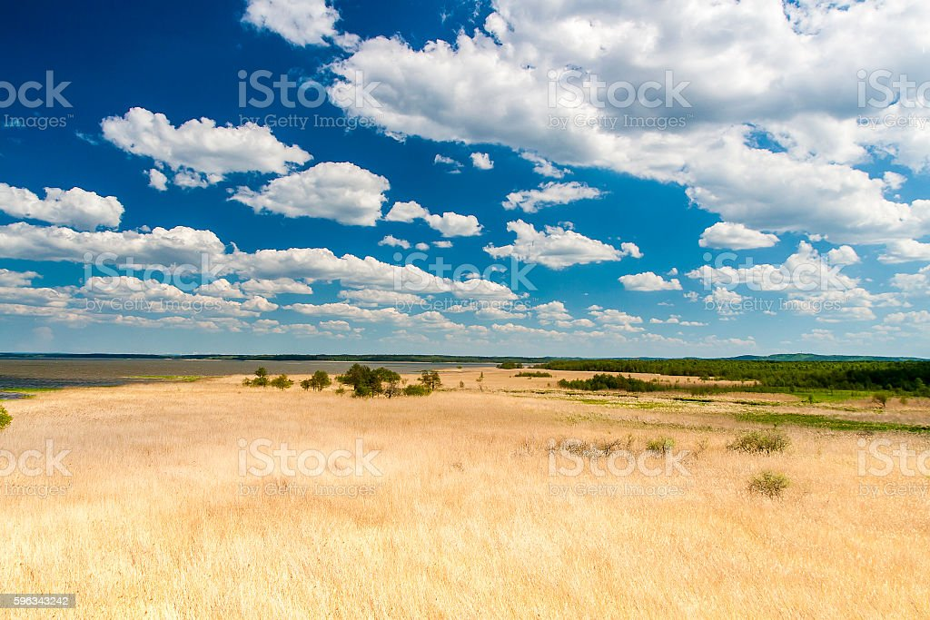 Beautiful view of the lake Lebsko royalty-free stock photo