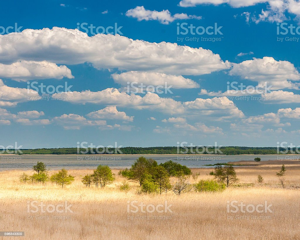 Beautiful view of the lake Lebsko Lizenzfreies stock-foto