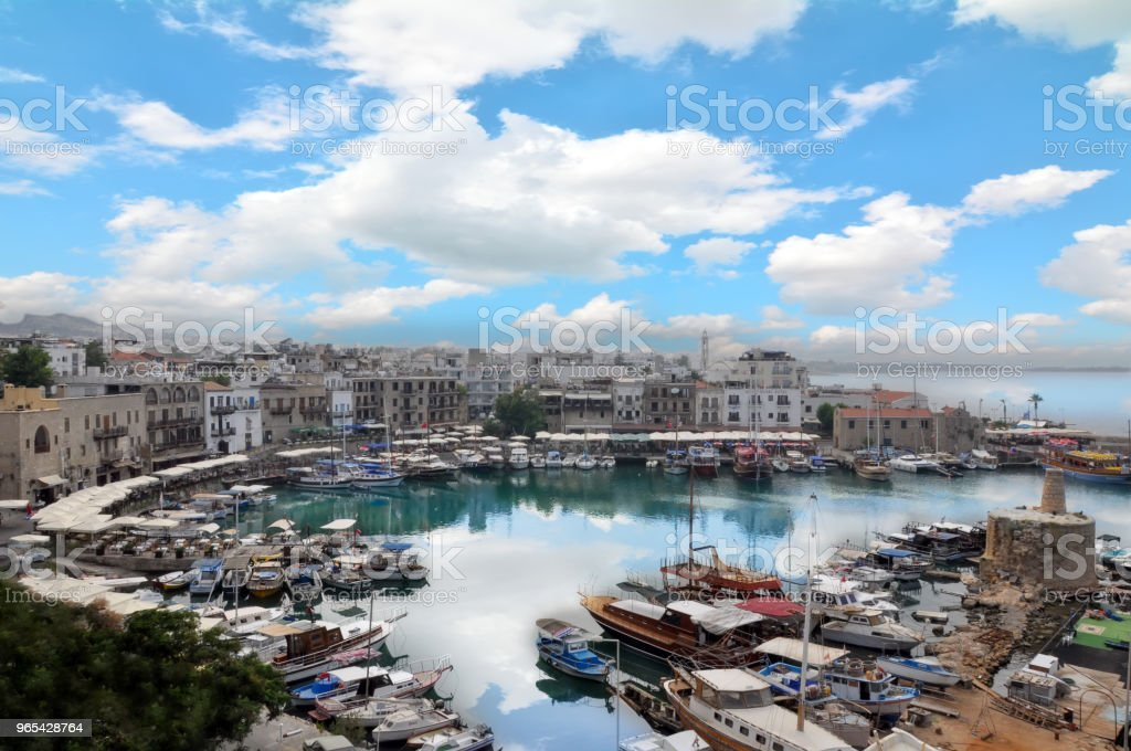 Beautiful view of the new port of Kyrenia (Girne), North Cyprus royalty-free stock photo