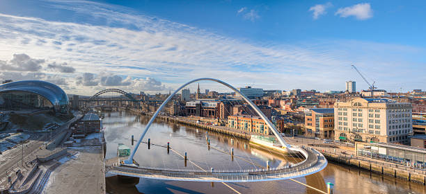 Beautiful view of the Newcastle Quayside stock photo