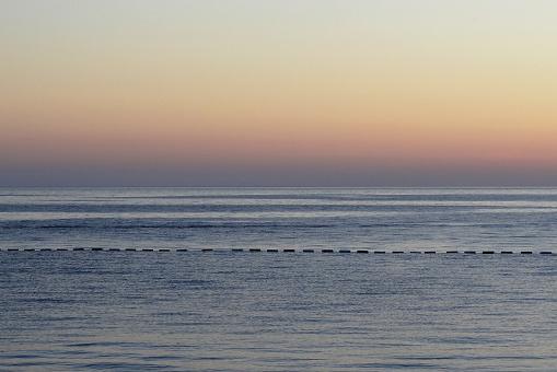 Beautiful view of the sea, sunset sunrise. Background
