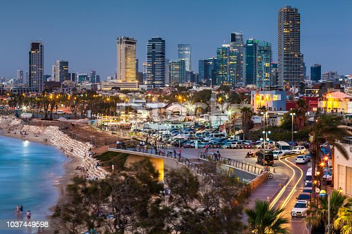 TEL AVIV, ISRAEL - CIRCA MAY 2018: Beautiful view of Tel Aviv in Israel circa May 2018 in Tel Aviv.
