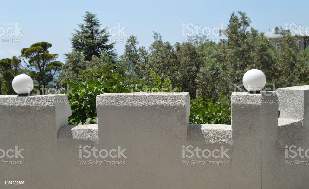 Hermosa Vista De La Valla De Piedra Blanca Terrazas