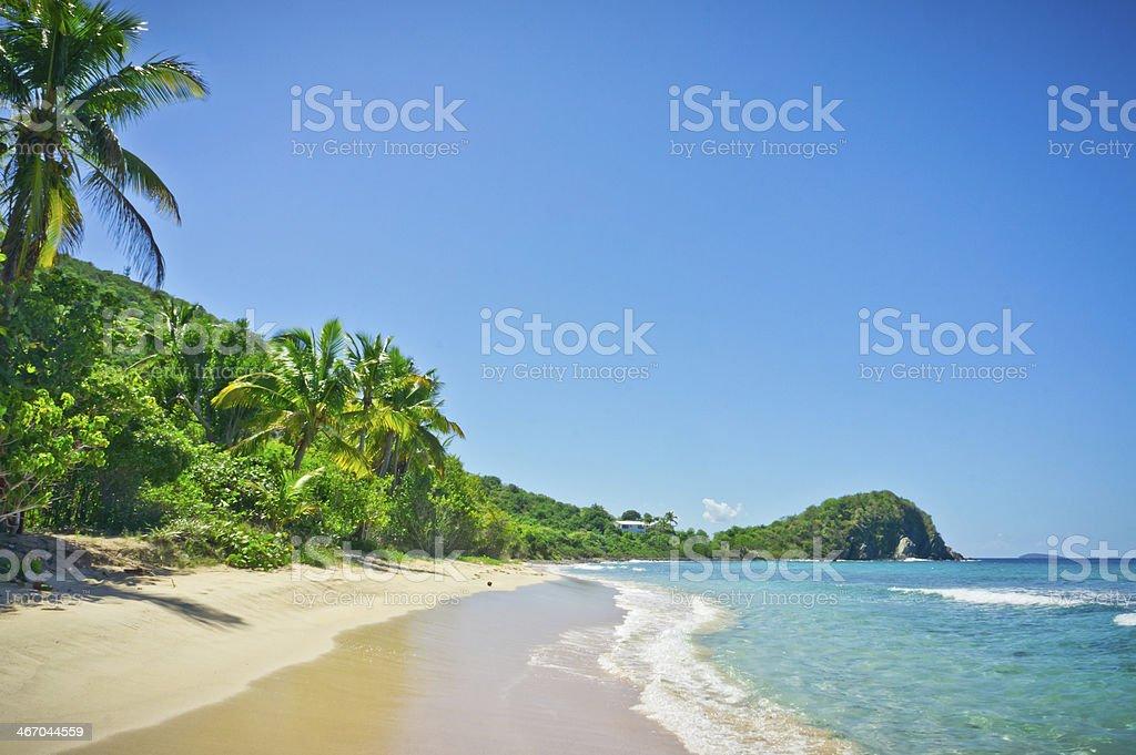 Beautiful view of Tortola, British Virgin Islands stock photo