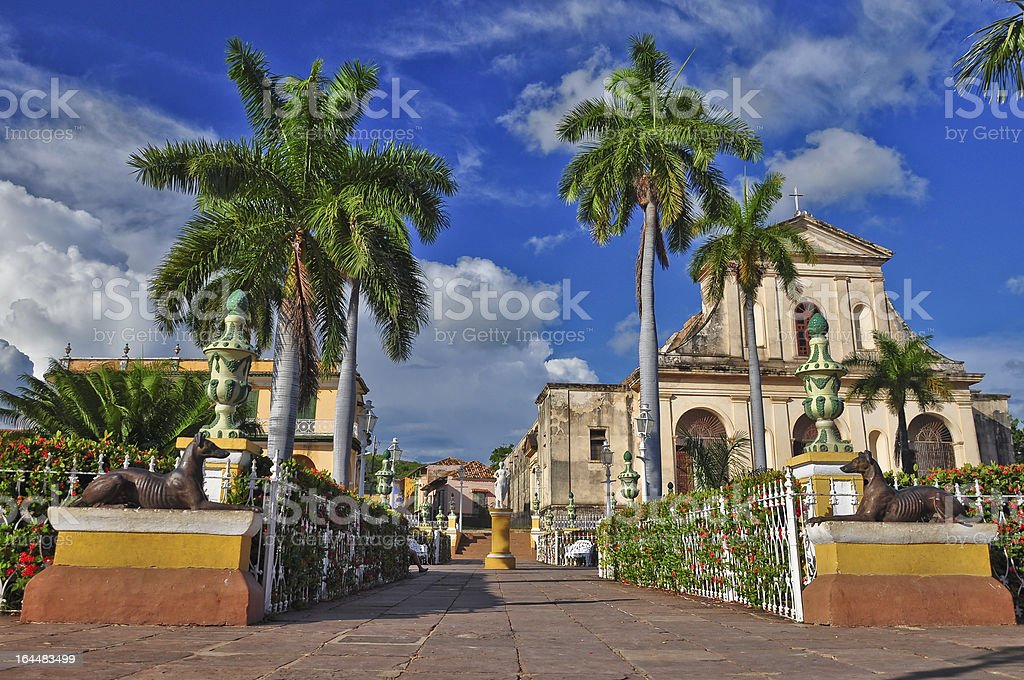 A beautiful view of Trinidad de Cuba stock photo