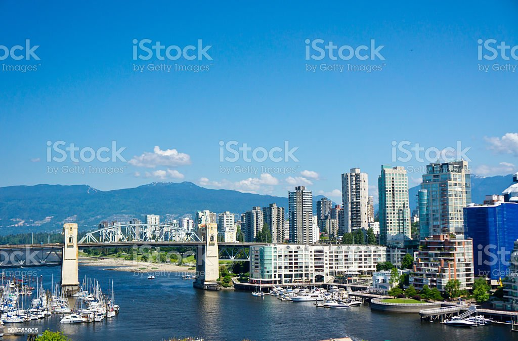 Beautiful view of Vancouver, British Columbia, Canada royalty-free stock photo