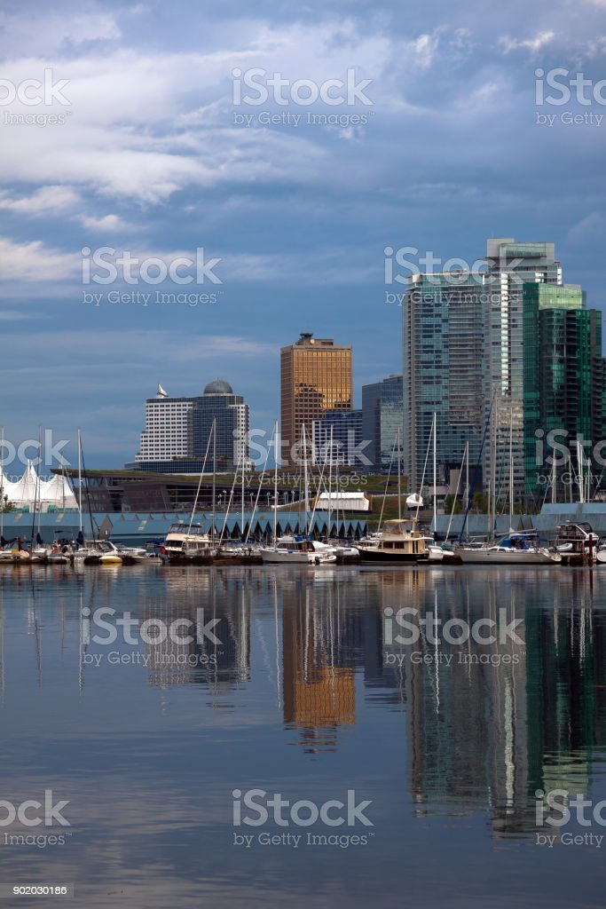 Beautiful View of Vancouver skyline stock photo
