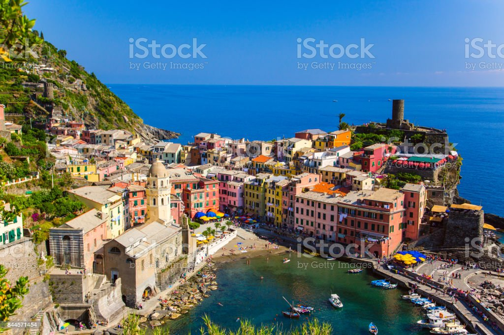 Beautiful view of Vernazza stock photo