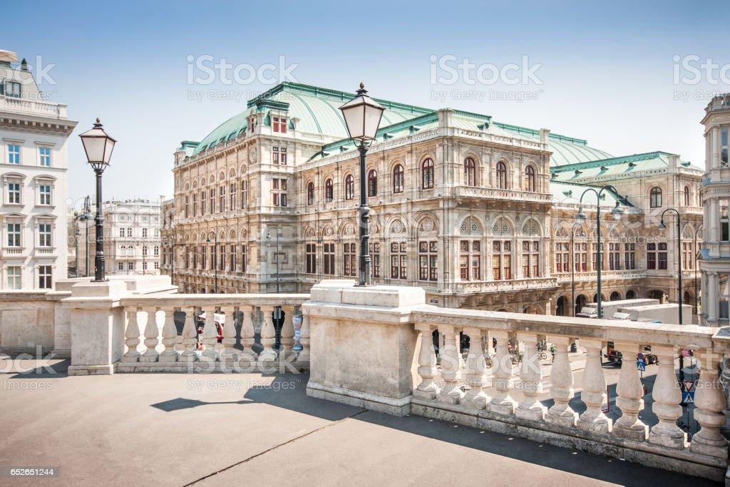 Beautiful view of Wiener Staatsoper (Vienna State Opera) in Vienna, Austria – Foto