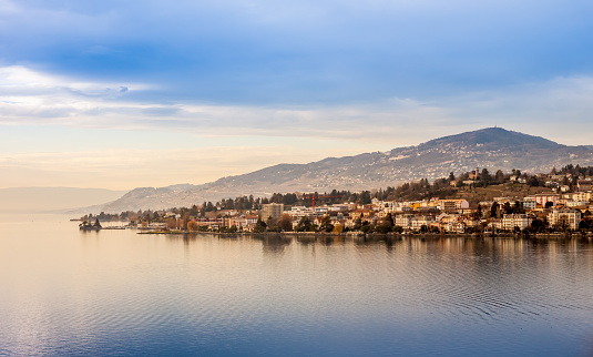 Beautiful view on Geneva Lake and Montreux