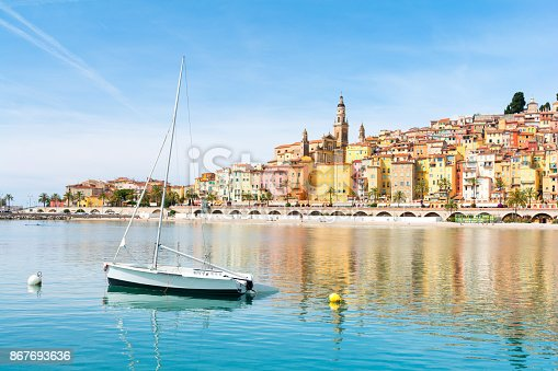 istock beautiful view on Menton town on french riviera, cote d'azur, south France 867693636
