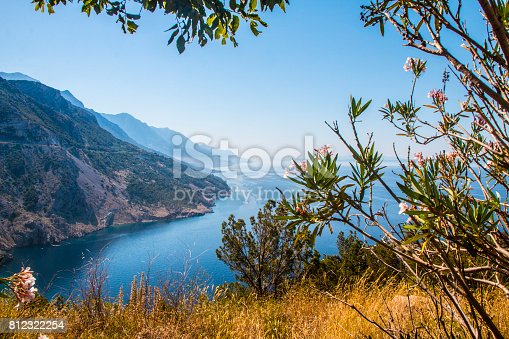 istock Beautiful view on mountais by Adriatic sea 812322254