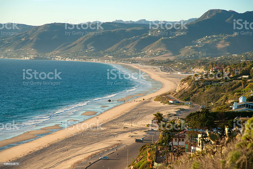 Beautiful view on Point Dume Beach Malibu stock photo