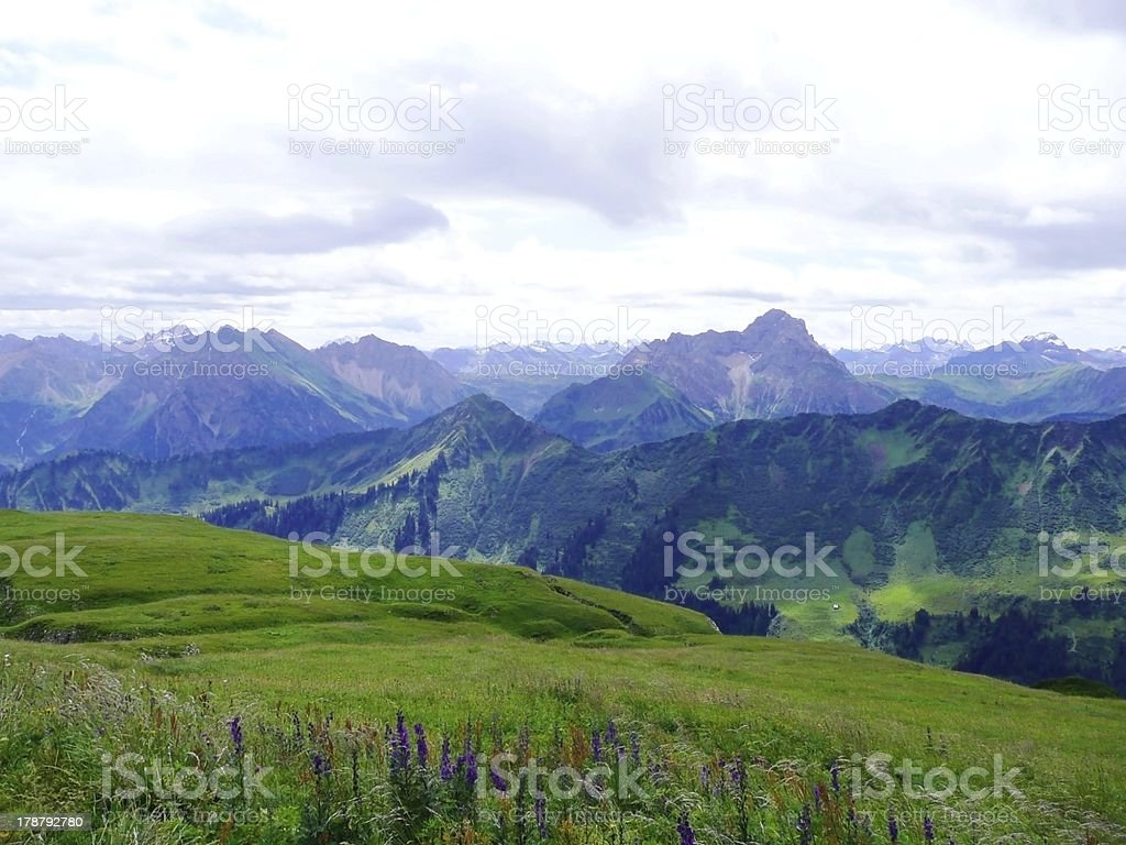 beautiful view on the top mountain,Germany stock photo