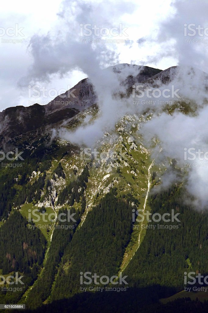 Beautiful views of Julian Alps from Slovenia, Europe Lizenzfreies stock-foto