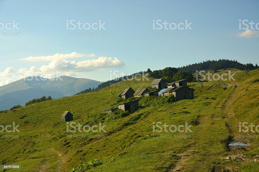Прекрасные виды на горы стоковое фото
