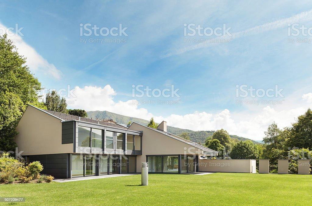 Beautiful villa, outdoor stock photo