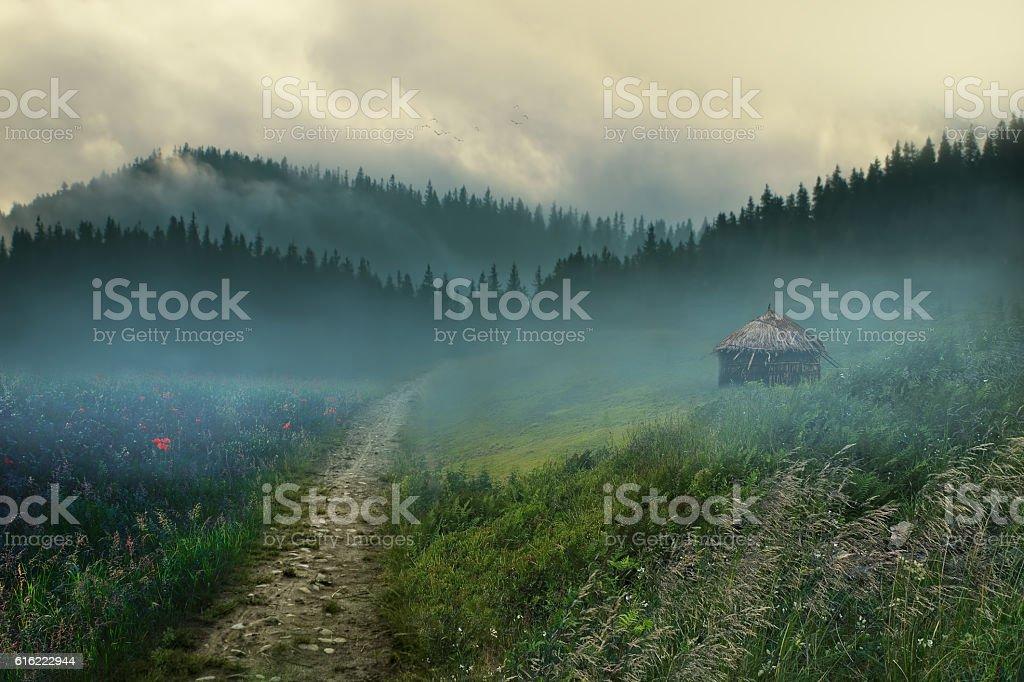 beautiful village stock photo