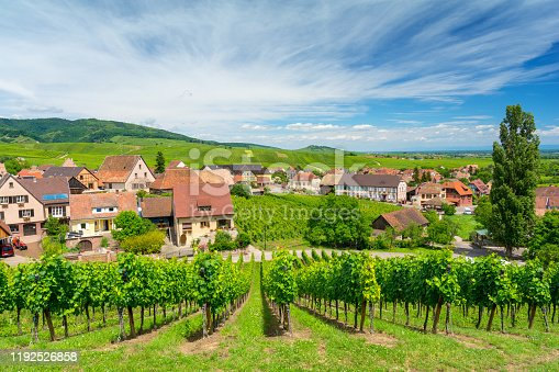 925850210 istock photo beautiful vineyards in Hunawihr village, Alsace, eastern France 1192526858