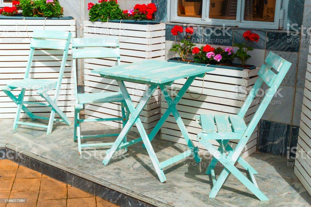 Photo Libre De Droit De Beau Mobilier Bleu Vintage Et