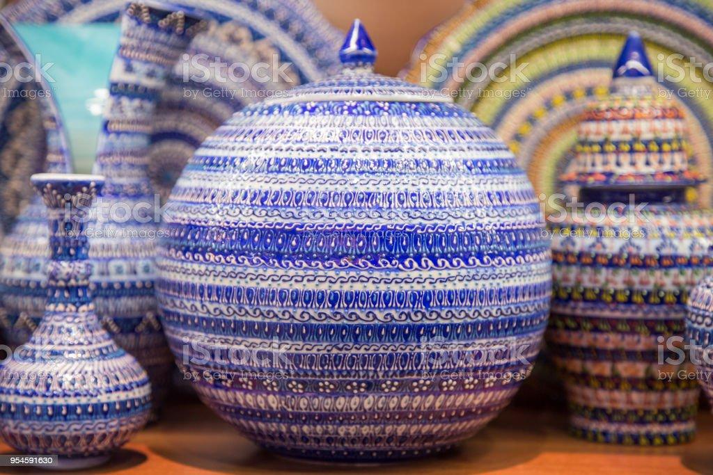Schone Vintage Geschirr Keramik Bemalt Stockfoto Und Mehr Bilder Von Alt Istock