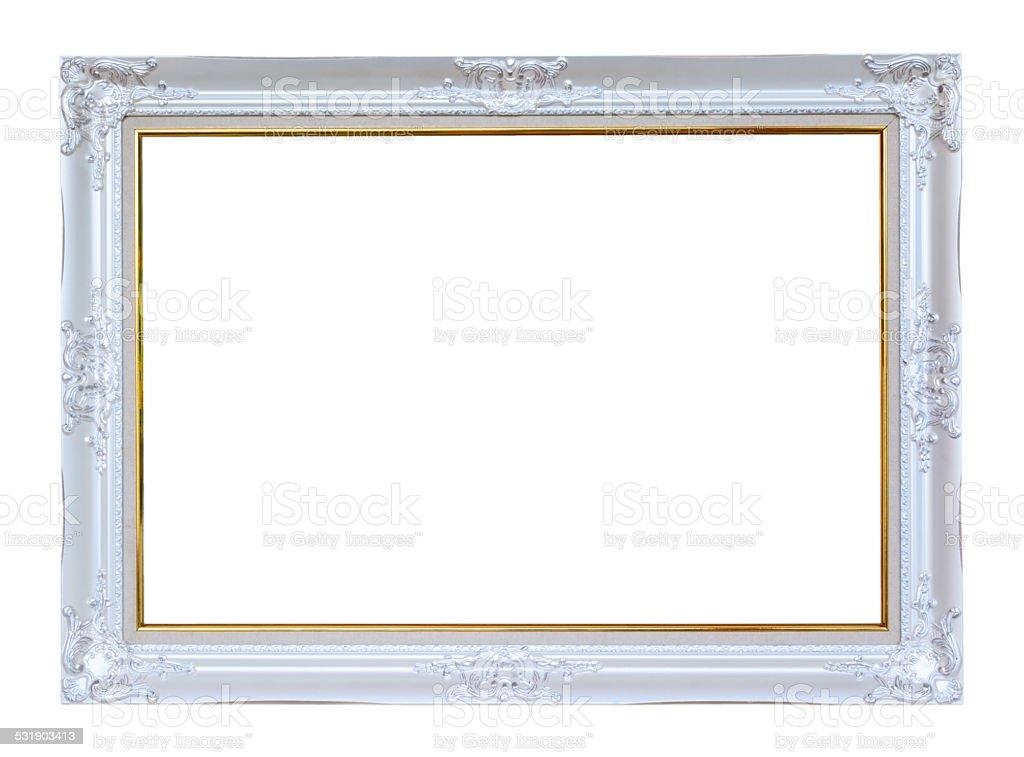 Wunderschöne vintage frame auf weißem Hintergrund – Foto