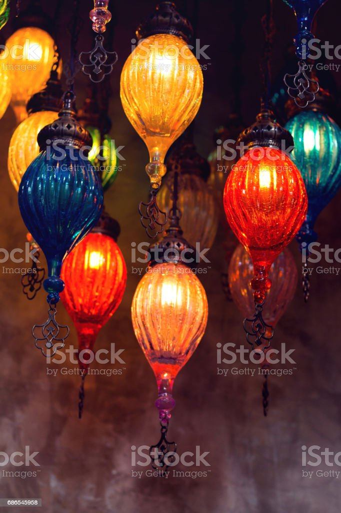 beautiful vintage lamp on old wall background foto stock royalty-free