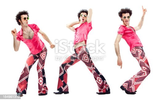 istock beautiful vintage pink dancer moves isolated on white 154961310
