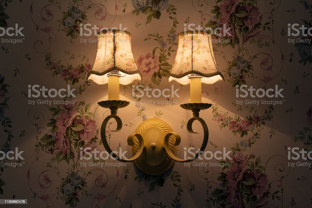 Image of: Beautiful Vintage Wall Lamp In The Bedroom Interiors Stock Photo Download Image Now Istock