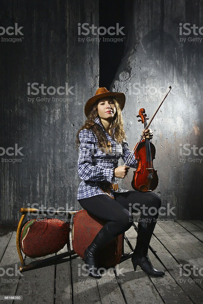 Bellissimo violinista Musicista foto stock royalty-free