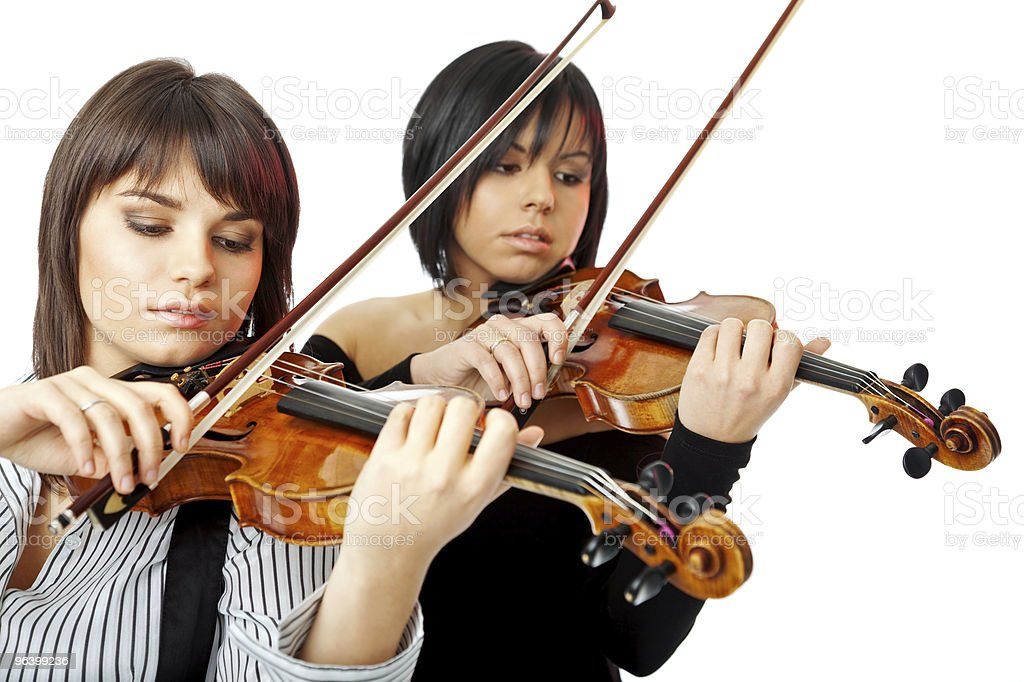 beautiful violinists - Royalty-free Adult Stock Photo