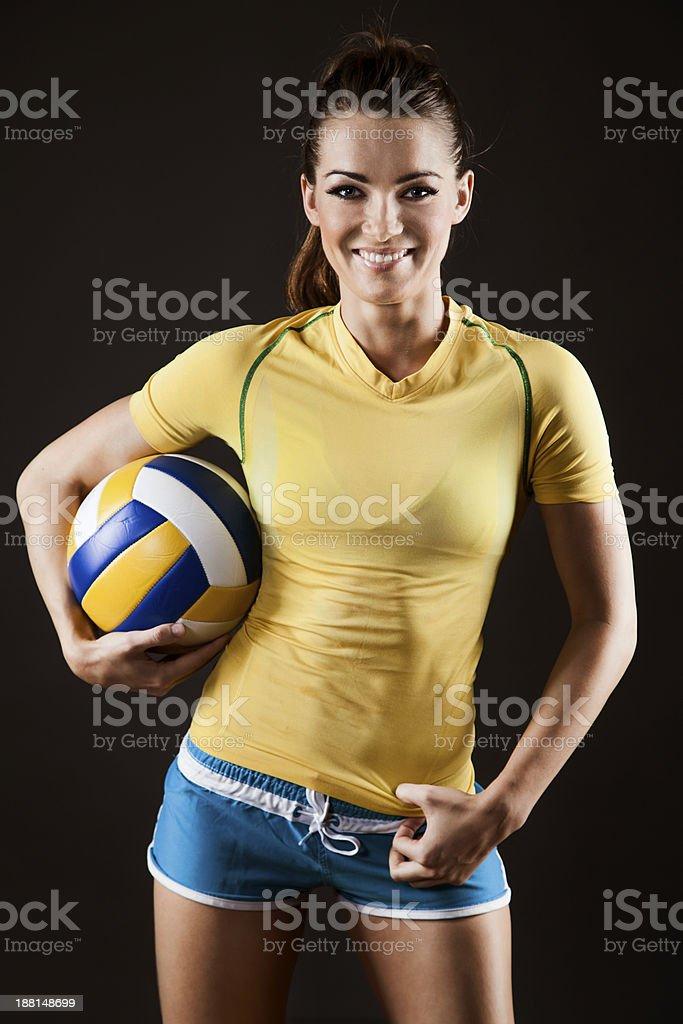 Wunderschöne volleyball player – Foto