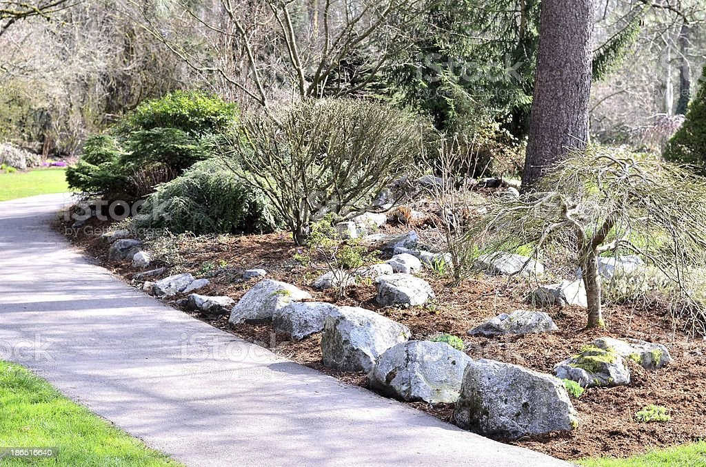 Beautiful walking path royalty-free stock photo