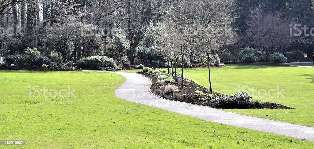 Beautiful walking path royalty-free stock photo