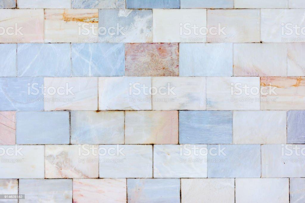 Eine Schöne Wand Der Marmorfliesen Die Textur Des Steines ...
