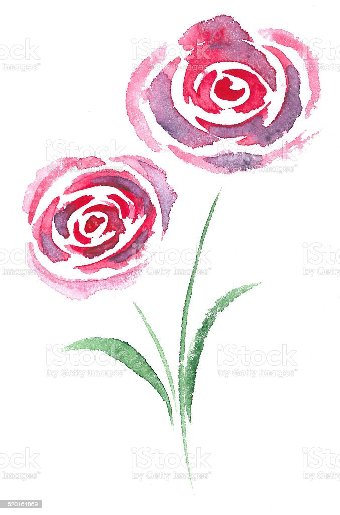 beautiful watercolor floral pattern stock photo