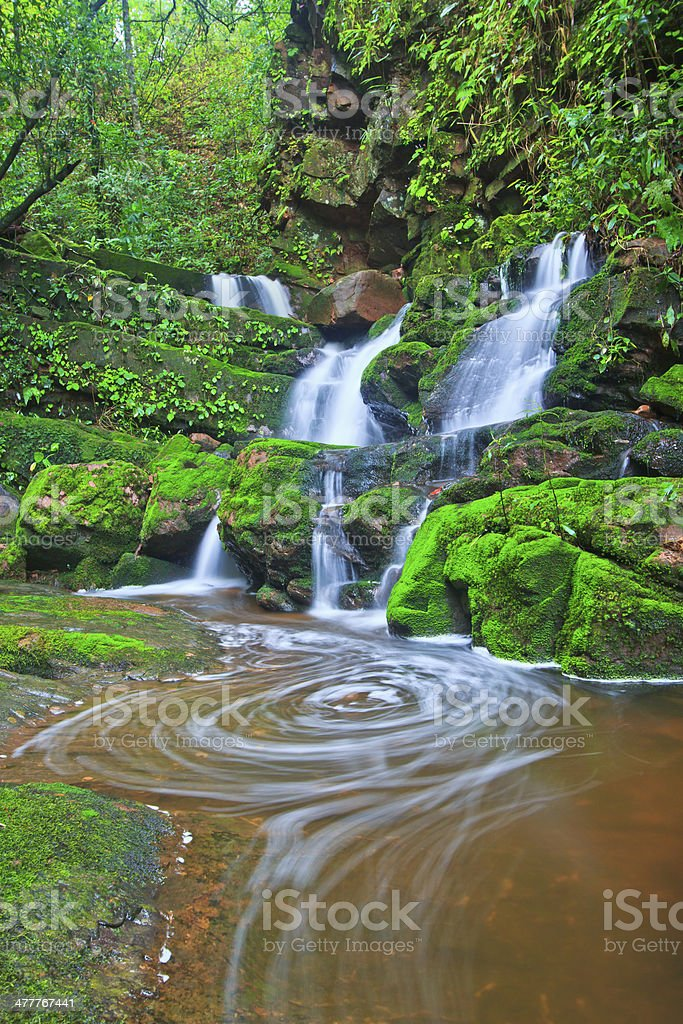 Beautiful  waterfall  asia thailand royalty-free stock photo