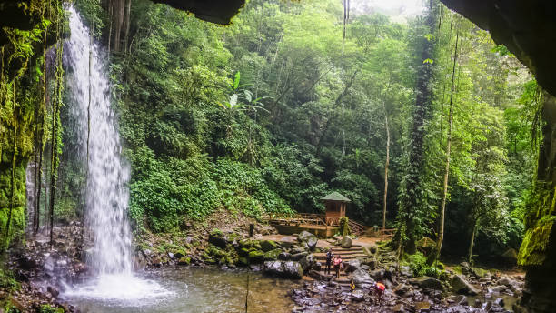 Beautiful waterfall in Borneo jungle Beautiful waterfall in Borneo jungle island of borneo stock pictures, royalty-free photos & images