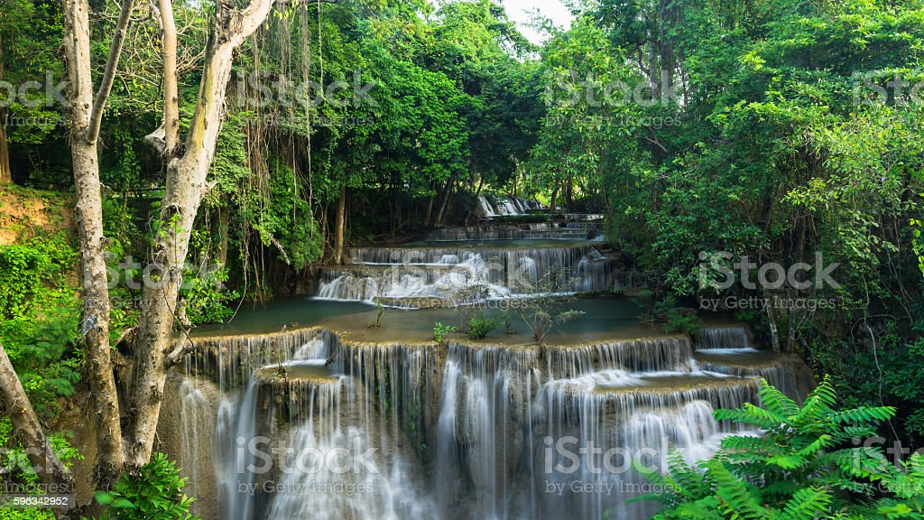 Beautiful waterfall in deep jungle in Thailand Lizenzfreies stock-foto