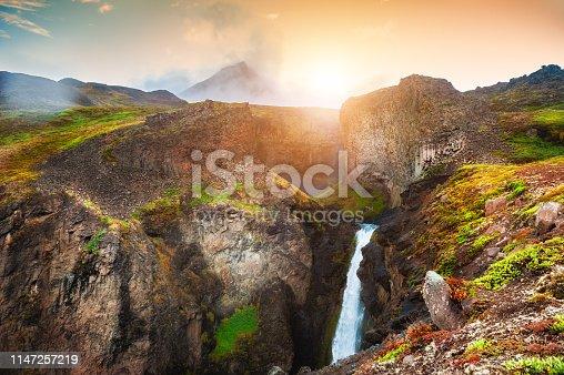 istock Beautiful waterfall in Greenland 1147257219