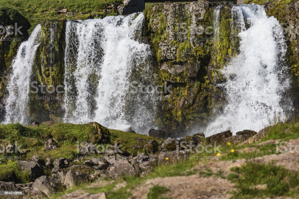 Beautiful waterfall in iceland on a sunny day - Royalty-free Beauty Stock Photo