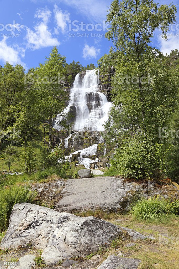 Beautiful waterfall in Norway. royalty-free stock photo