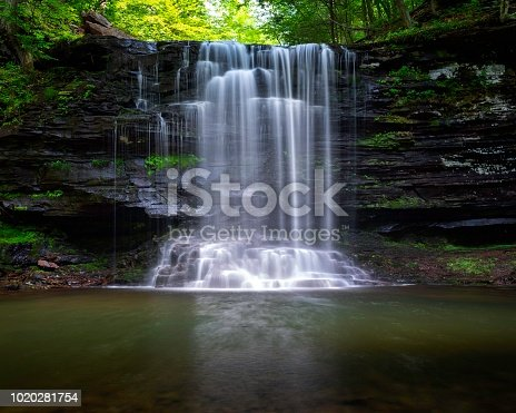 Harrison Wright Falls at Ricketts Glen State Park in Benton, Pennsylvania.